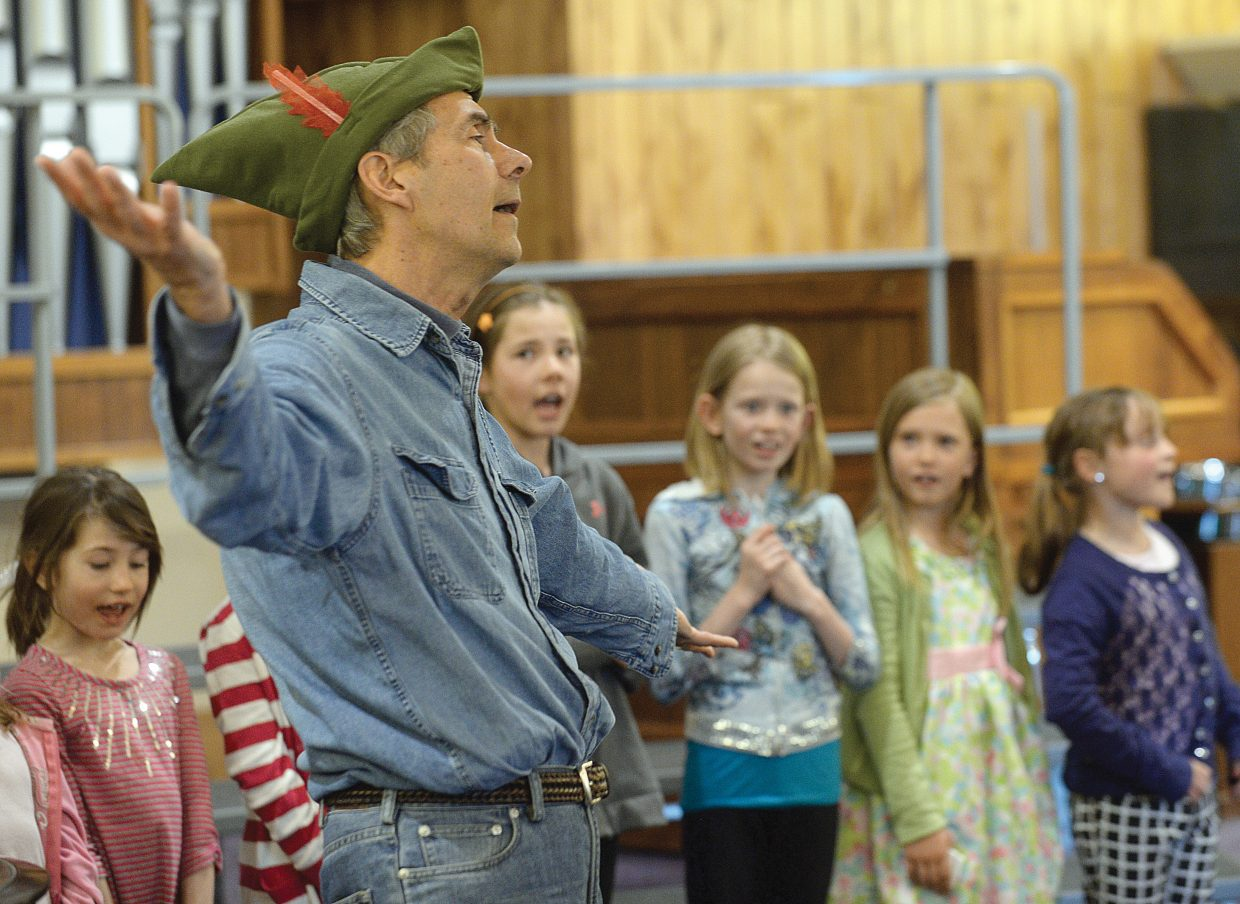 Gerry Audesirk plays the part of Peter Pan while rehearsing for the children's portion of the Yampa Valley Singers spring concert. The Yampa Valley Singers will host its annual spring concert at 7 p.m. Friday and 4 p.m. Saturday at the United Methodist Church of Steamboat Springs.