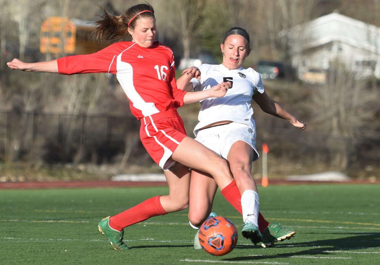 Brooke Buchanan fights for a ball Tuesday.