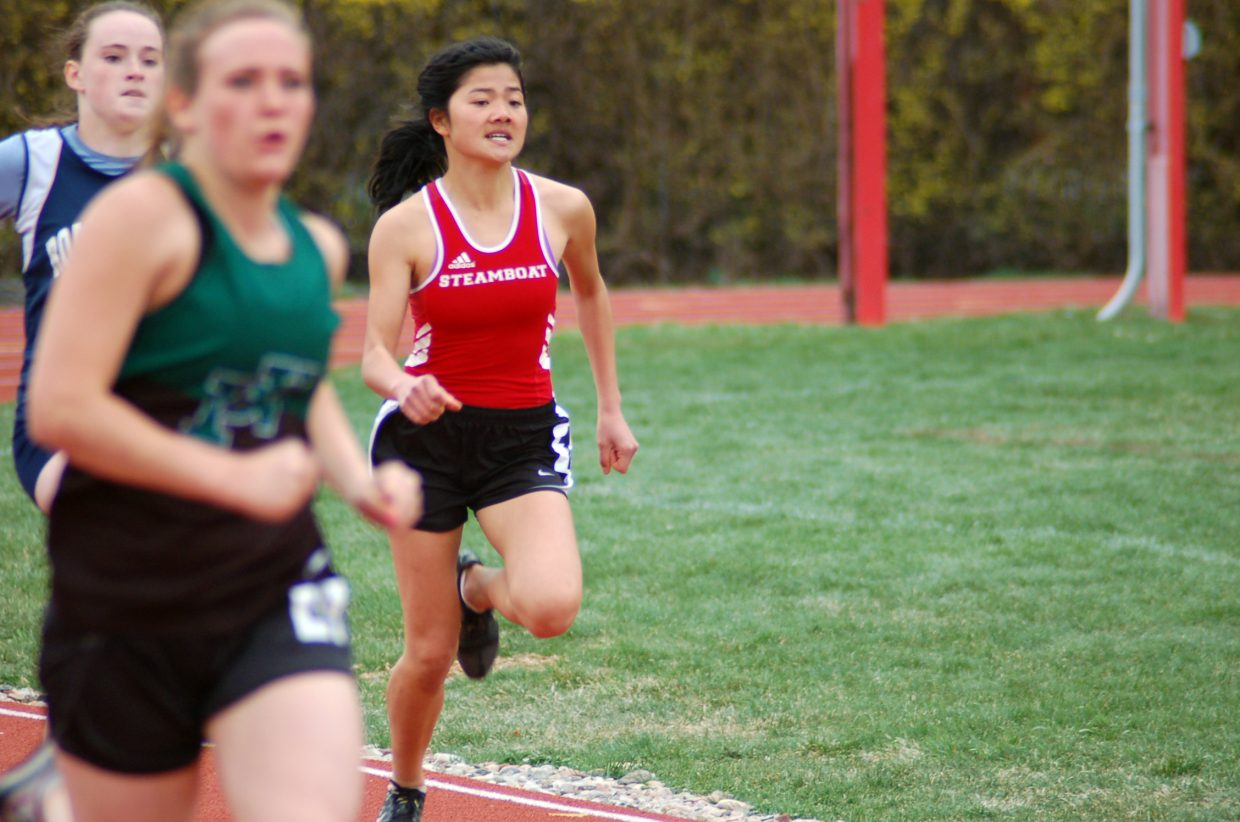Steamboat Springs track athlete Temsup Techarukpong competes Saturday at the Devils Invitational at Glenwood Springs High School.