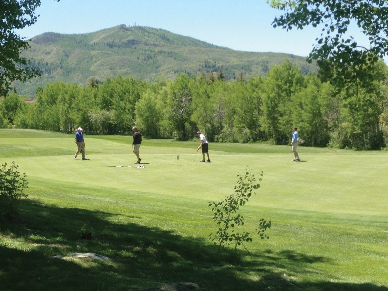 Golfers play in last year's Y.E.S. Golf Tournament at the Rollingstone Ranch Golf Club in Steamboat Springs. The deadline to take advantage of an early registration is Friday.