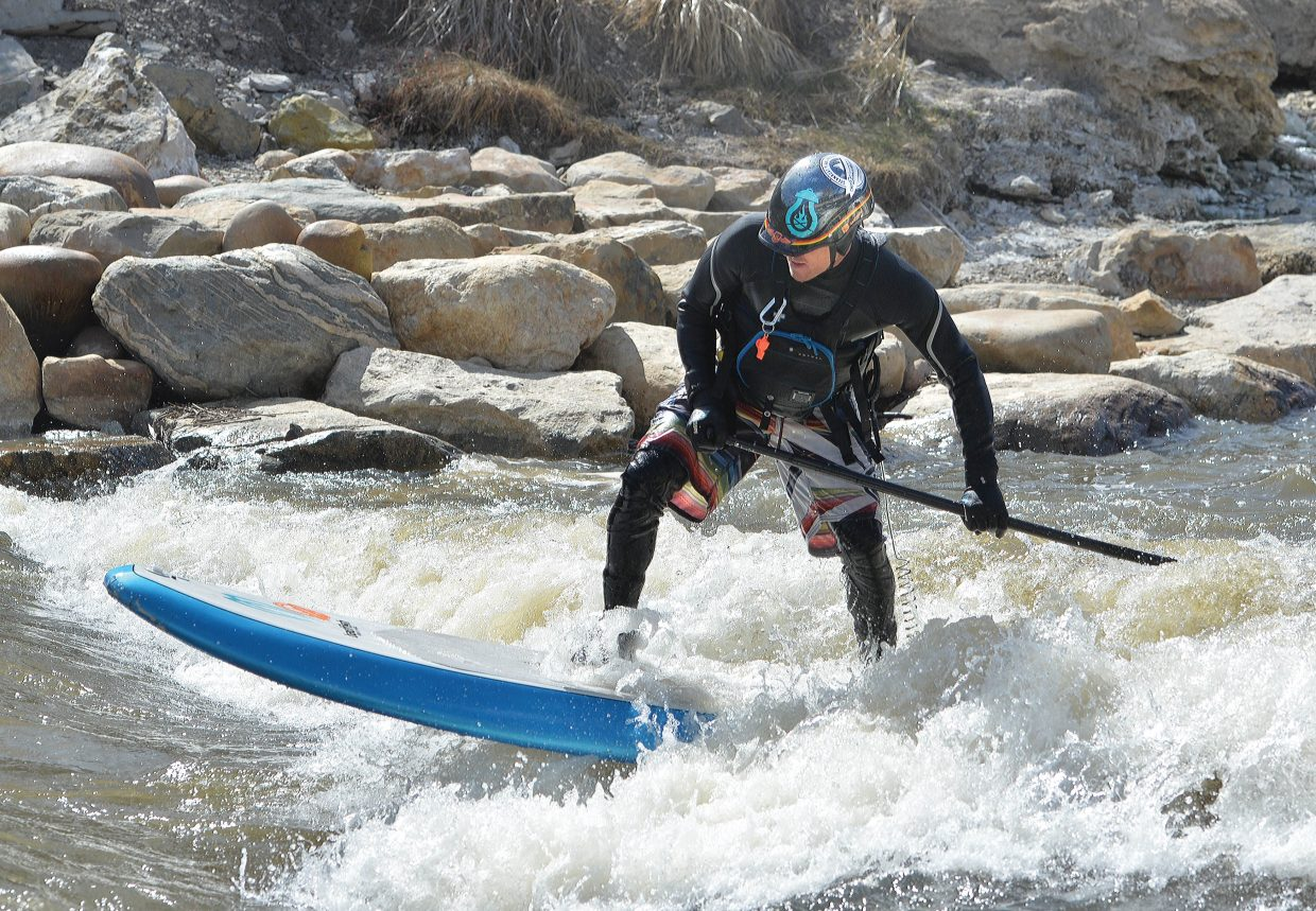 For many Steamboat residents, spring runoff in the Yampa River is the perfect place to play. Earlier this spring, Danny Tebbenkamp tested the waters of the Yampa River on his paddleboard. The Yampa also provides locals with a place to kayak, fish and swim.