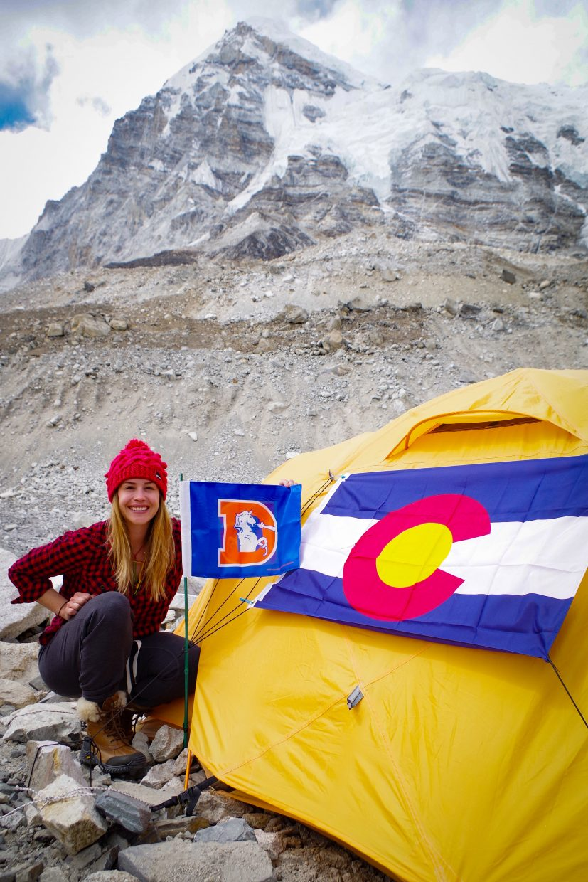 Hess brought a little bit of Colorado with her to Mount Everest base camp for the 2016 climbing season.