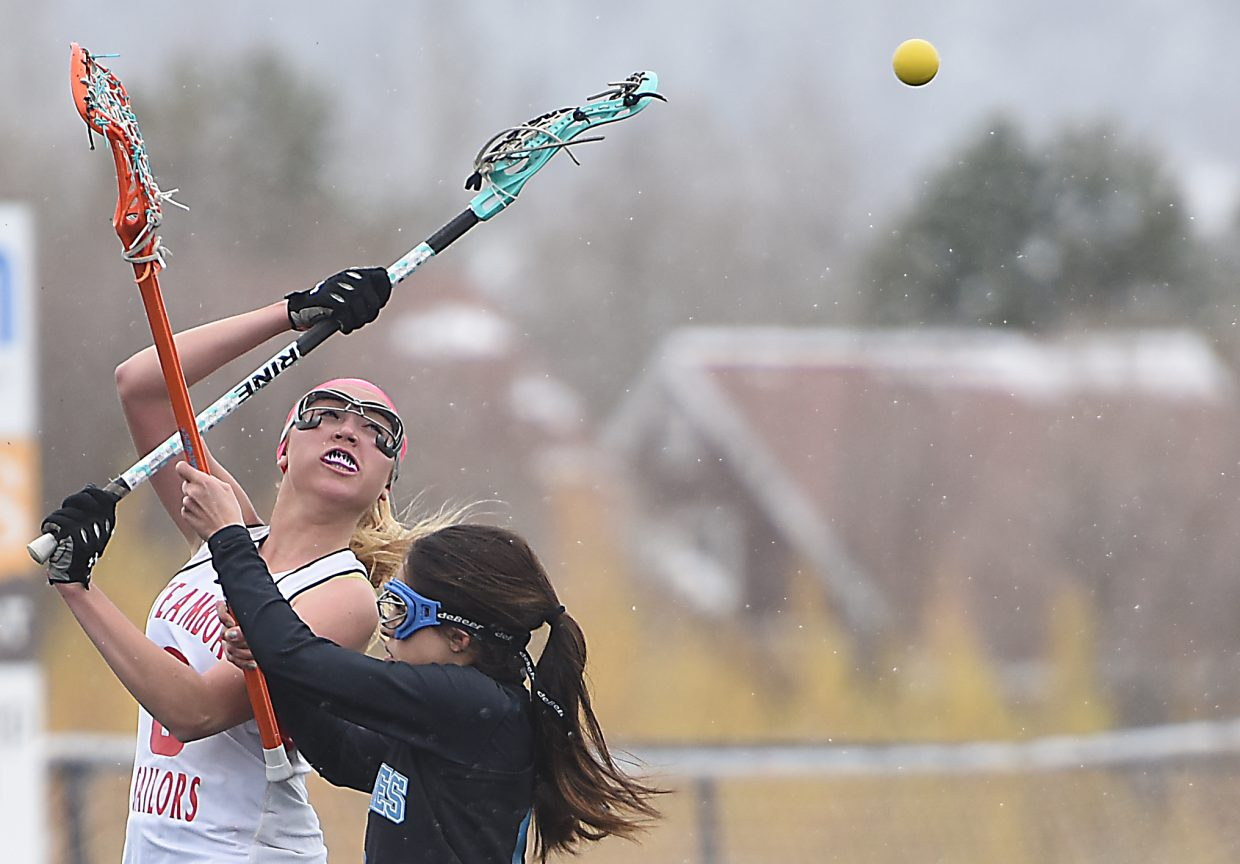 Steamboat's Brittany Brown slings a pass across the field Saturday.