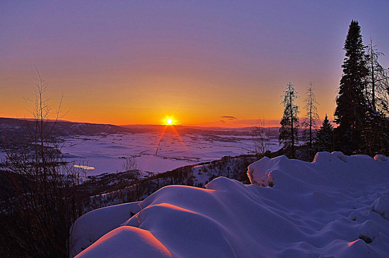 Saturday's sunset from Rabbit Ears Pass. Submitted by: Matt Helm