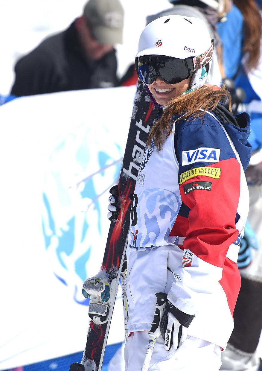 Lane Stoltzner smiles wide after a run at last month's U.S. Freestyle Skiing National Championships in Steamboat Springs. Stoltzner, a Steamboat skier, was named last week to the U.S. Freestyle Ski Team.