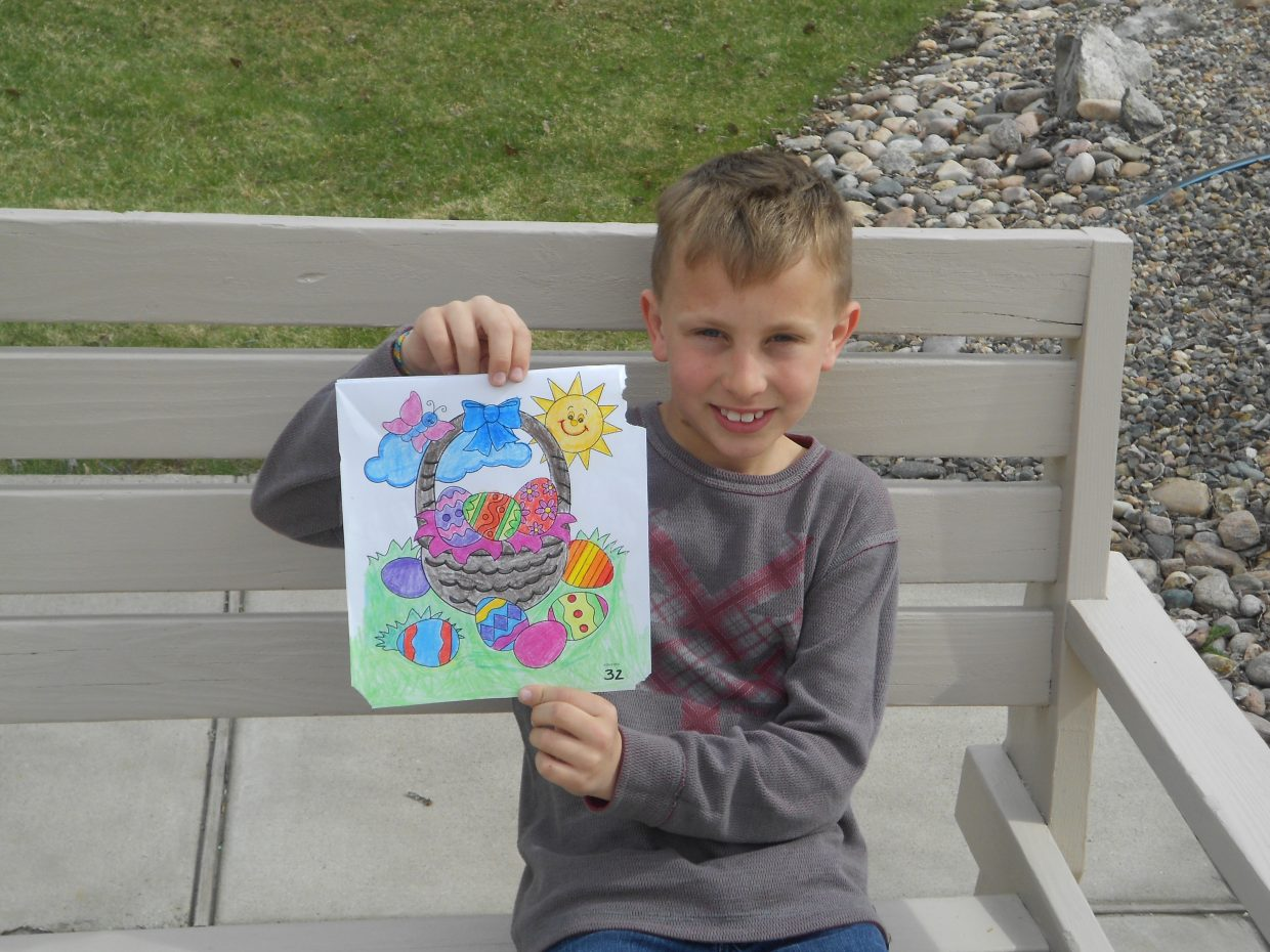 Brytton Nelson took second place in the Hayden Public Library's coloring contest. Submitted by: Rachel May