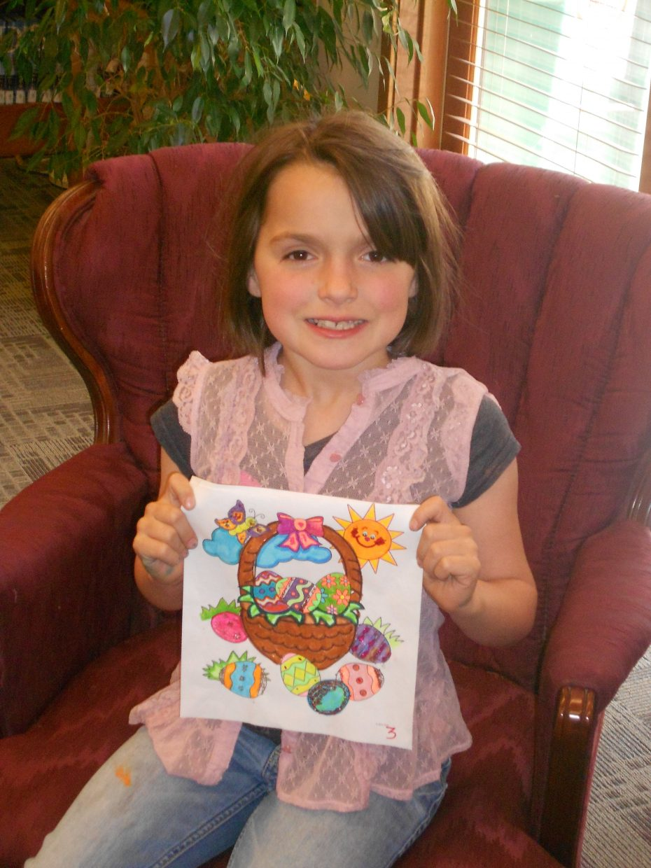 Zoe Vatalaro took first place in the Hayden Public Library's coloring contest. Submitted by: Rachel May