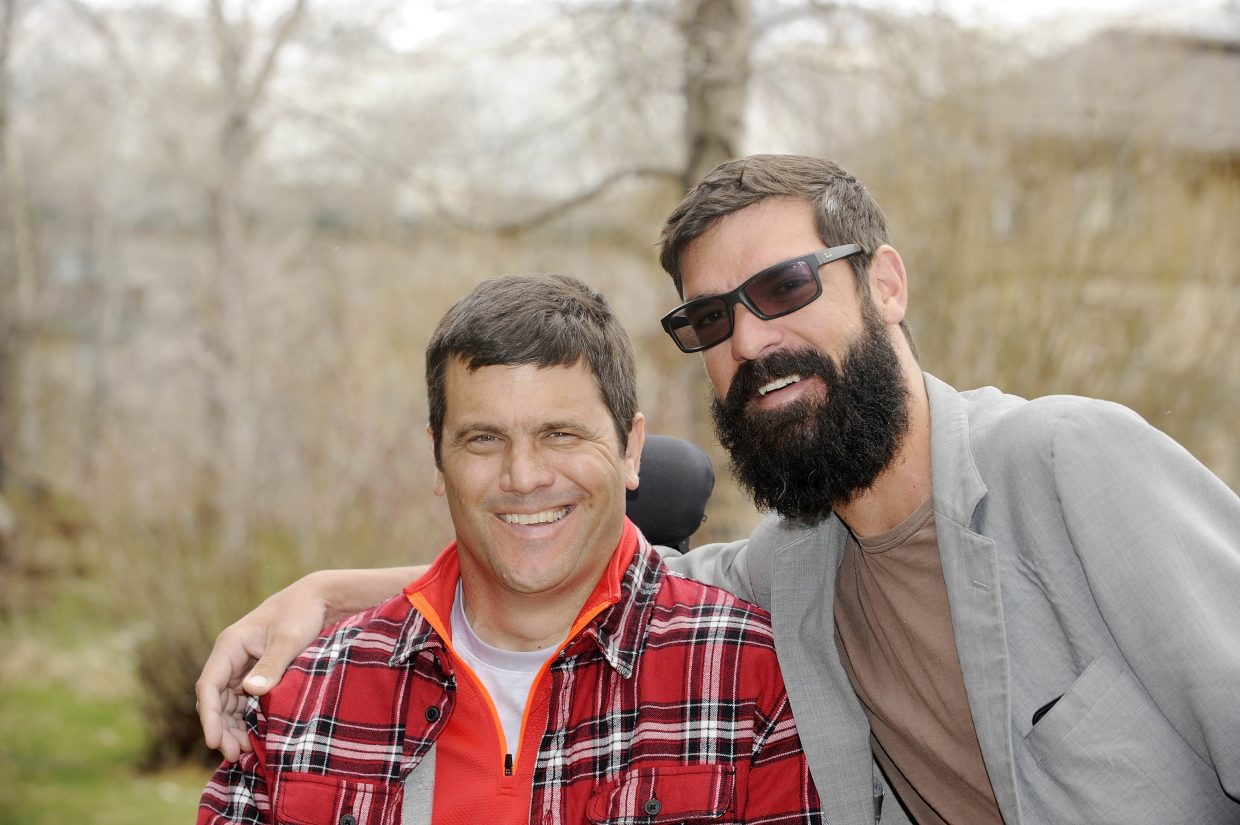 """Andrew """"Hondo"""" Sanders, right, and Dave Genchi both suffered spinal cord injuries during the 2006-07 ski season. They did rehab together in Craig Hospital and reunited for the first time last week in Steamboat."""
