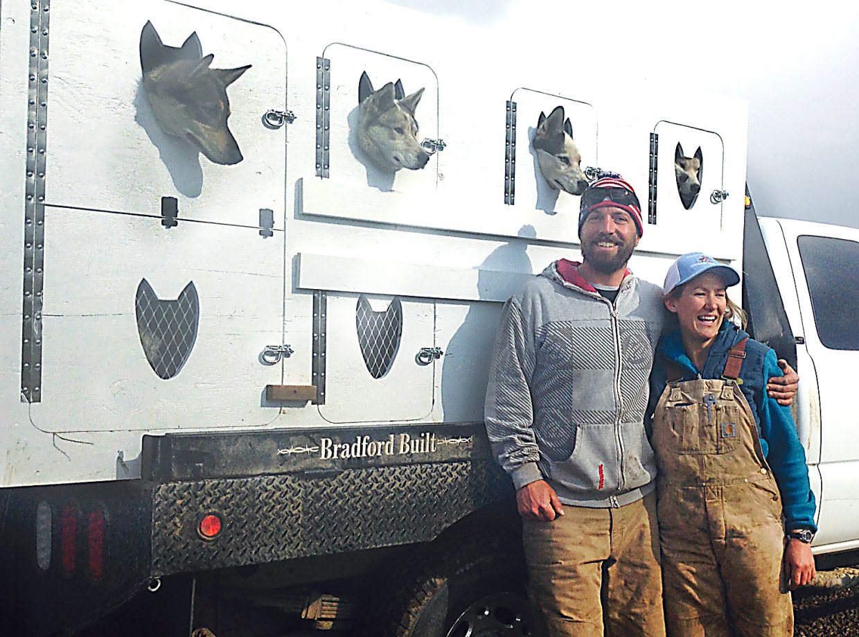 Oak Creek mushers Dan Piano and Sarah Piano set off this week with 25 sled dogs on a road trip to Juneau, Alaska, where they'll spend the summer guiding trips and living on a glacier.