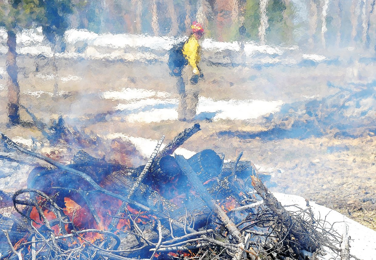 The controlled burn was part of a joint effort with a private landowner to clean up and create a firebreak in an area known for wildfires. Zone Fire Management Officer Sam Duerksen said the cleanup will make fighting fires in the future easier and should make access in and out of the area safer in the case of a wildfire.