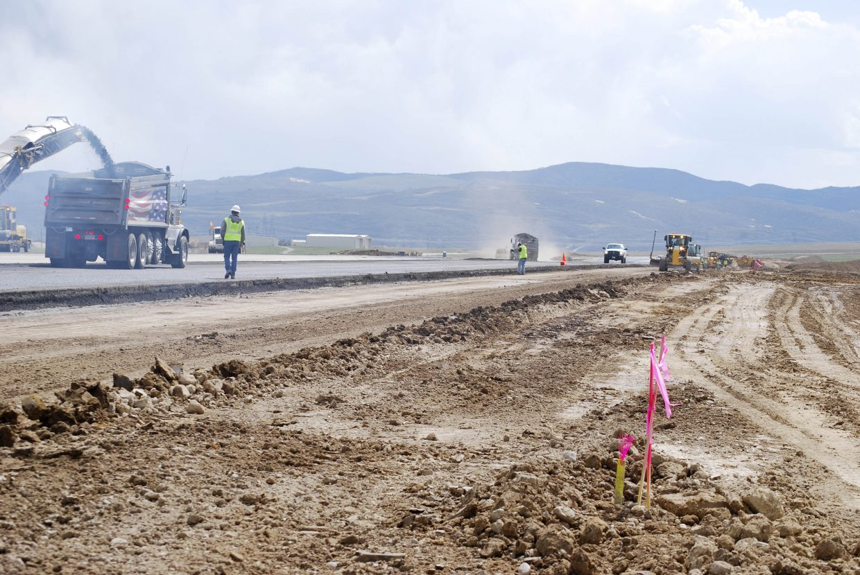 Thursday marked Day 10 of a 60-day runway construction and rehab project at Yampa Valley Regional Airport. Airport Director Kevin Booth said construction was on schedule despite the wet weather. YVRA's only runway is expected to reopen June 15.