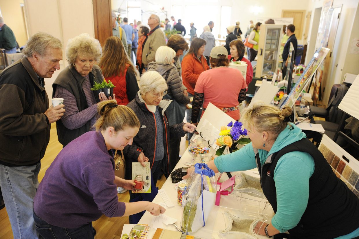 People pack the Steamboat Springs Community Center during the Home and Garden Expo on Saturday.