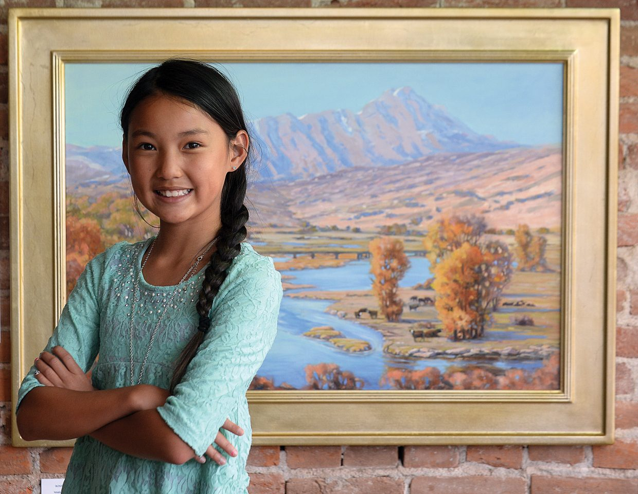 Emerald Mountain School student Piper Eivins found inspiration in this art by Bonnie McGee on display at the Circle & Gallery in Steamboat Springs.