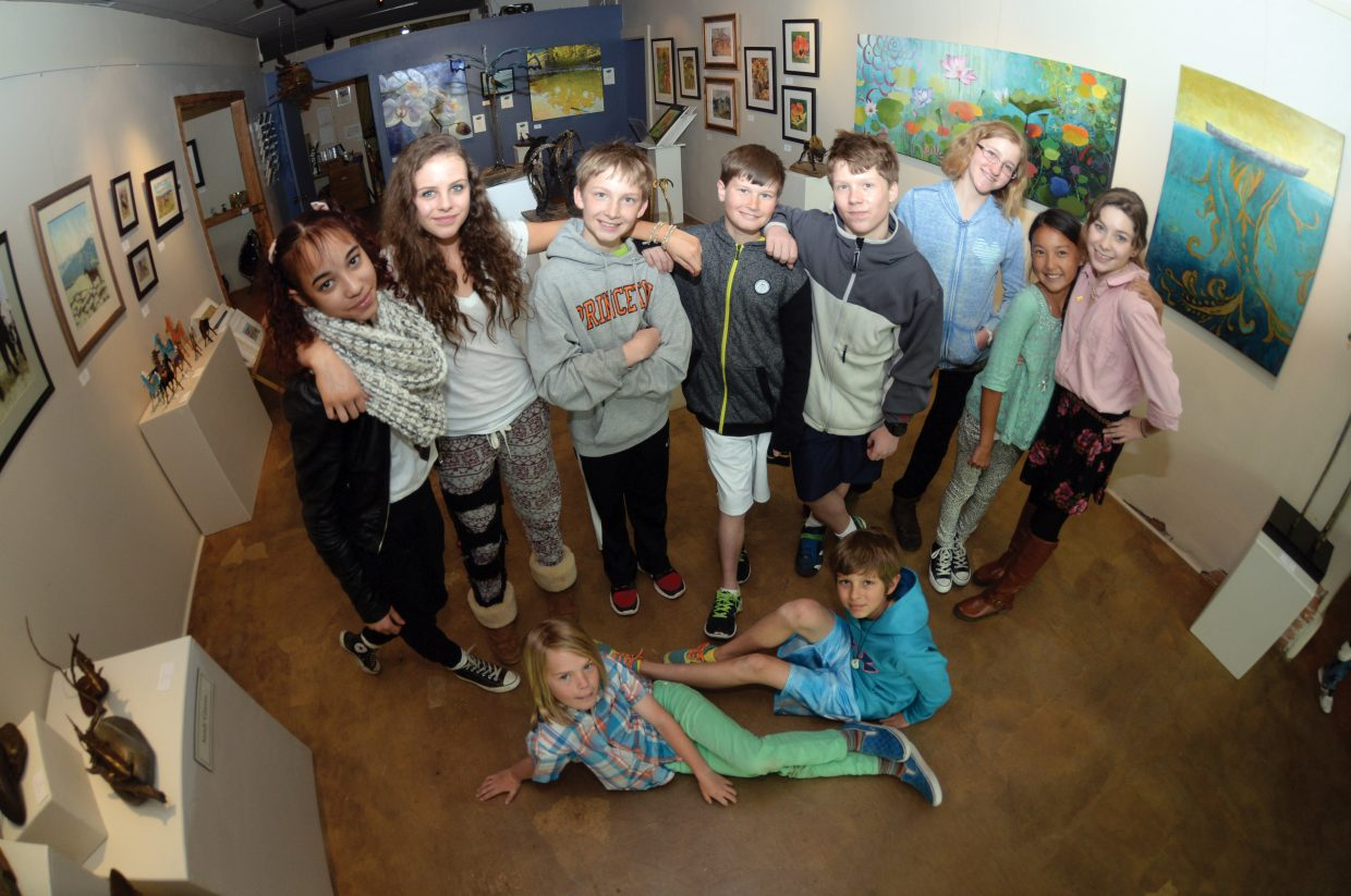 The students at the Emerald Mountain School found inspiration in the works of the artist, who hang their work inside the Circle 7 Gallery in Steamboat Springs.