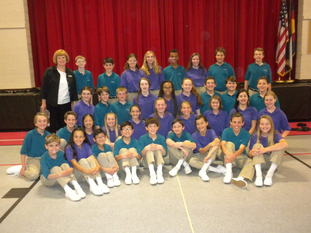 The Colorado Children's Chorale visited and performed for Strawberry Park Elementary and South Routt Elementary students during assemblies at each school Friday. The Chorale is based in Denver and includes five choirs with over 500 singers in fifth through eighth grades.