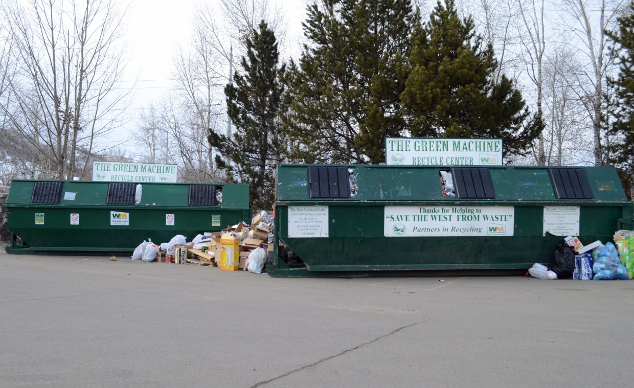 The convenient recycling drop-off that Steamboat residents have enjoyed in the Safeway grocery parking lot for years is poised to undergo a significant change May 10. That's when the service provider shifts from Waste Management to Twin Enviro Services and the hours of availability are pulled back to 9 a.m. to 3 p.m. Saturdays only.