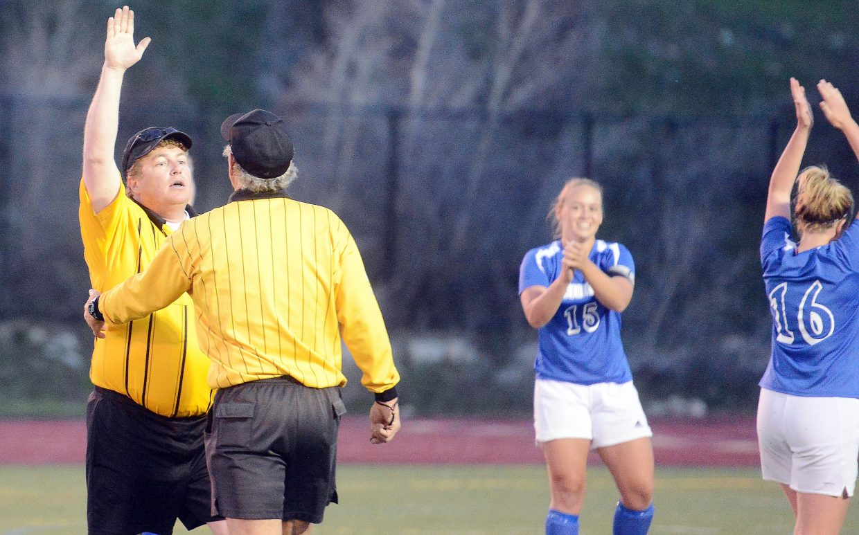A line judge initially ruled Steamboat's game-winning goal as offsides, much to Fruita's delight. The officials changed their mind, however, allowing the score and giving the Sailors the win.