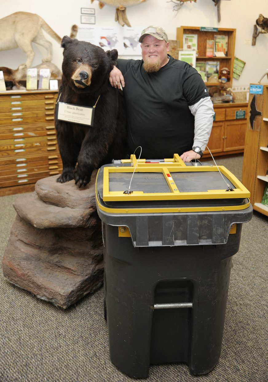 Welder Rollin Stone has been working on a retrofit for trash cans that would make them resistant to bears.