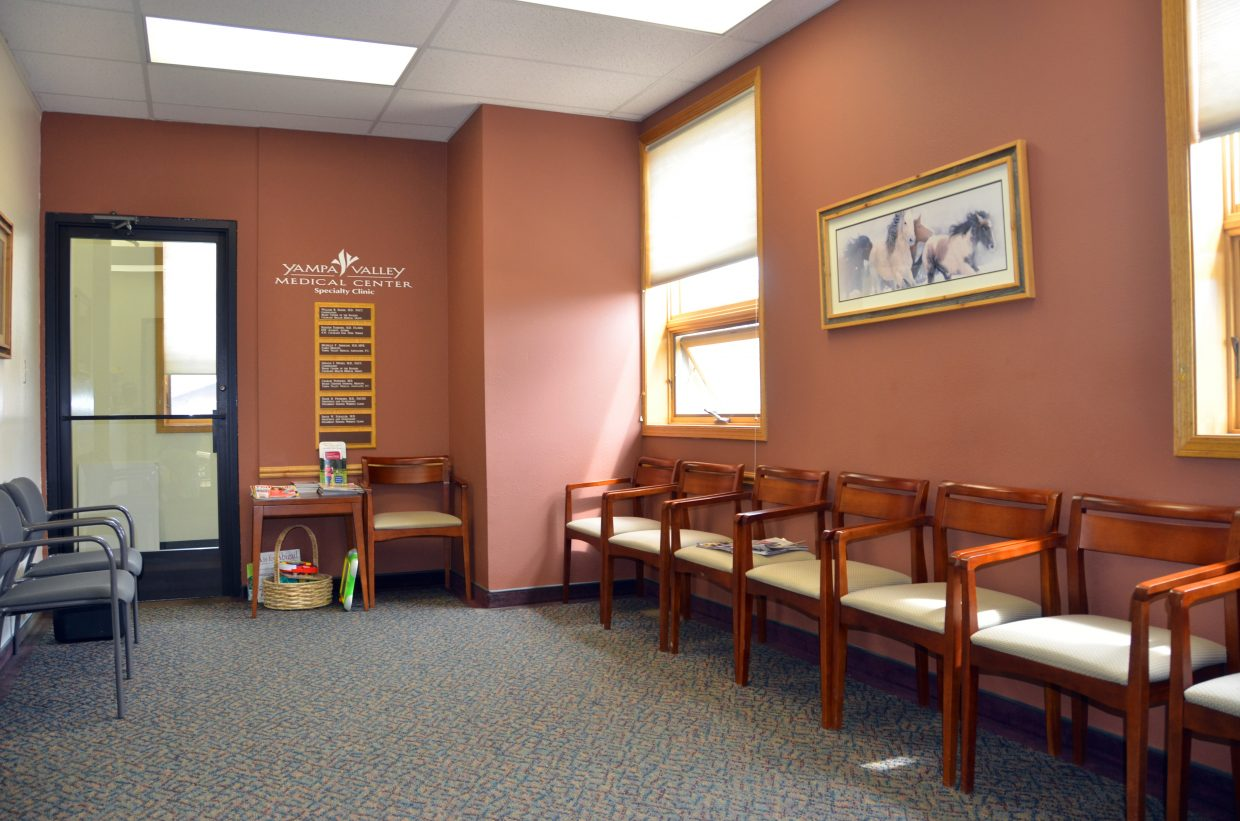 Pictured is the waiting room of Yampa Valley Medical Center Specialty Clinic, which also now is home to the services of YampaCare Family Medicine. YampaCare first began serving Craig patients about a month ago.