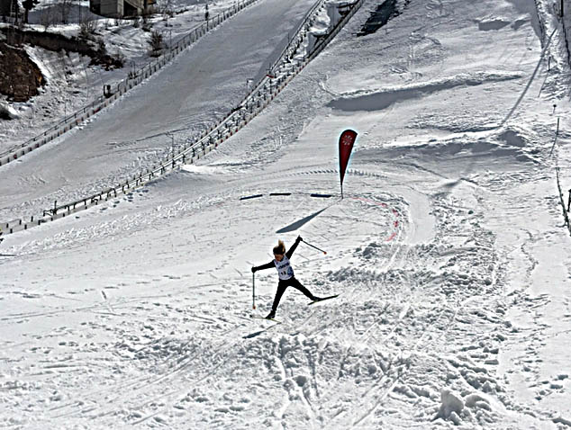 Snow conditions at the Olympic ski jumping complex in Park City, Utah, forced organizers of the Western Regional Championships to be creative. This year's cross-county portion of the Nordic combined event featured an obstacle course-style race, which pushed the young competitors but also proved to be fun.