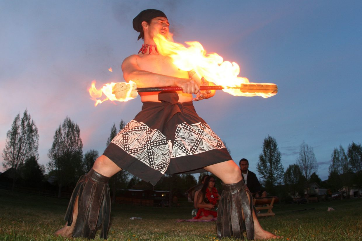 A dancer performs at the inaugural Sailor Luau in 2012. The third annual event will be held at 6:30 p.m. Monday at Steamboat Springs High School.