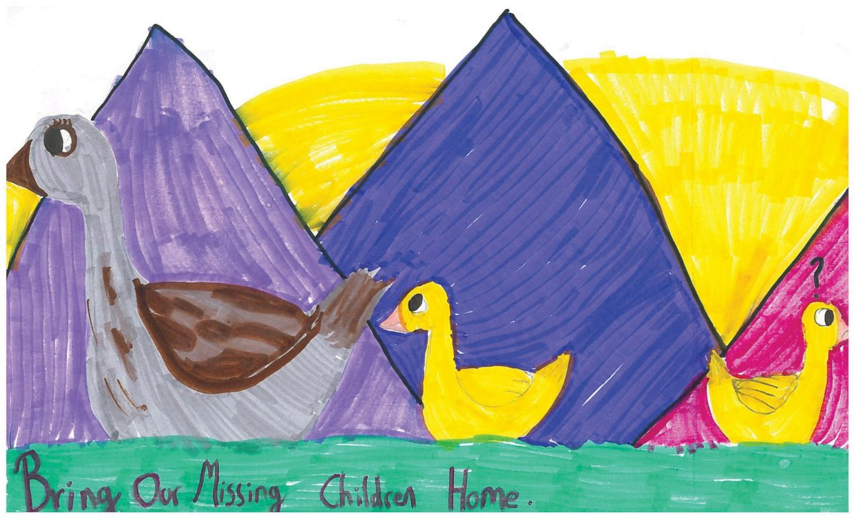 Leilani Ward, a fifth-grade student from Steamboat Springs, submitted a poster that represented Colorado as part of a national campaign sponsored by the United States Department of Justice and the Colorado Bureau of Investigation to honor missing children across the nation as part of National Missing Children's Day in May. 