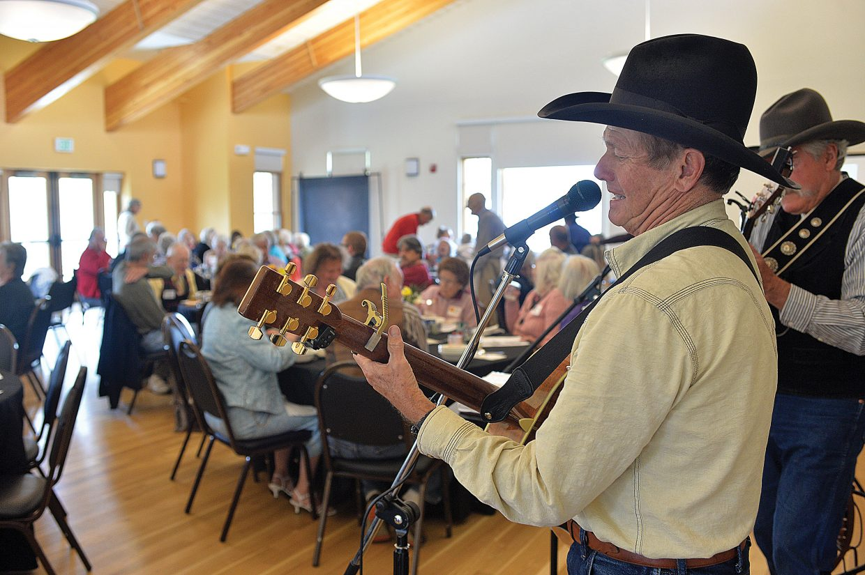 Steve Jones, of the Yampa Valley Boys, plays a song for the seniors at the annual Routt County Council on Aging's Spring Fling Friday afternoon.