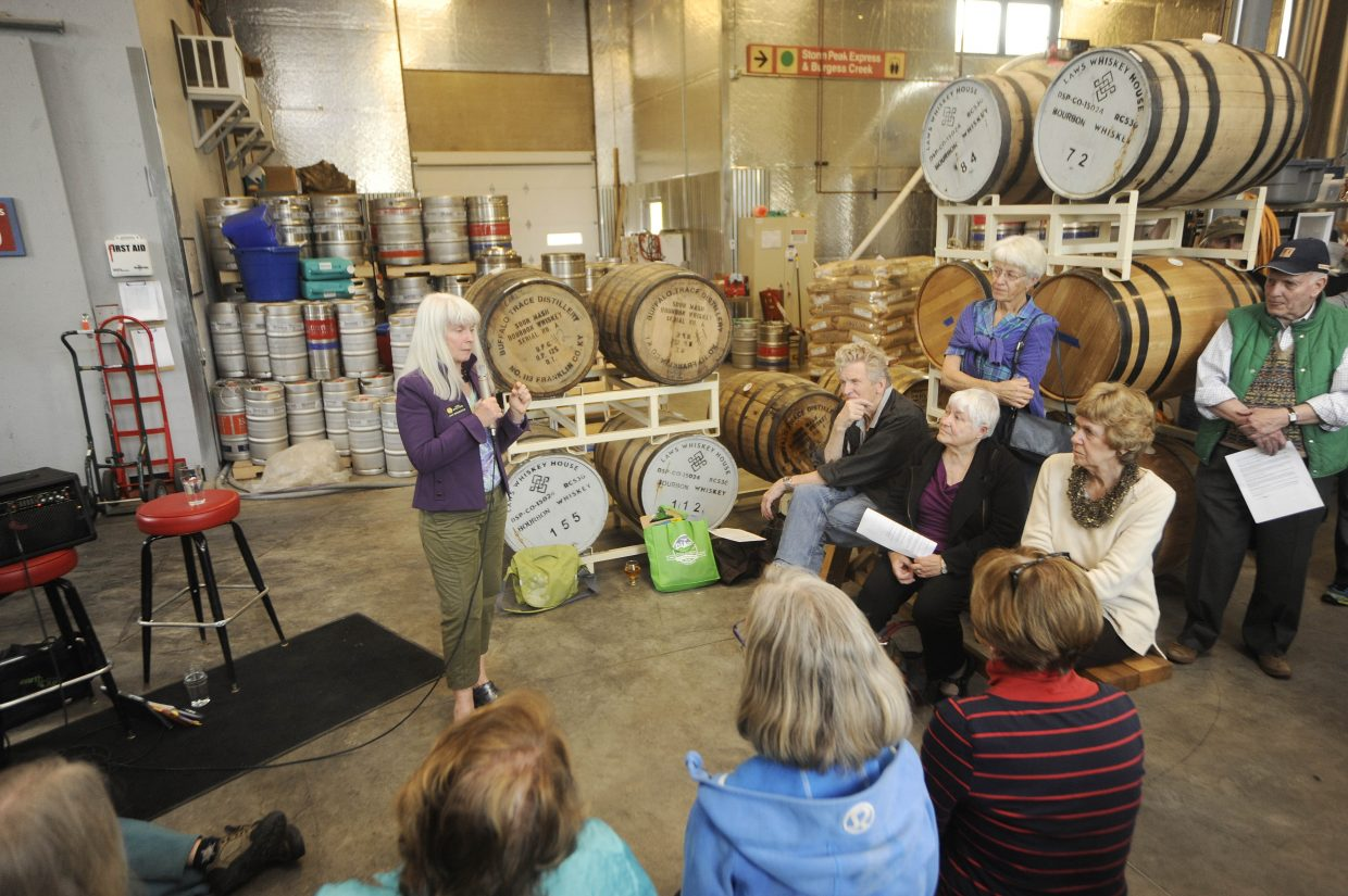 State Rep. Diane Mitsch Bush visited with constituents Friday evening at Butcherknife Brewing Co. in Steamboat.