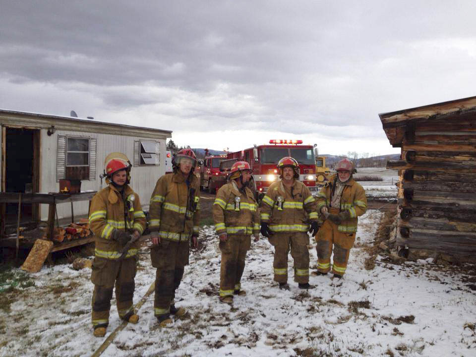 Yampa Fire Protection District firefighters were called at 6:40 p.m. Friday to a report of a trailer fire at 8030 Routt County Road 3 in Toponas. The owner of the trailer was able to save the home by putting the fire out with a garden hose. Chief Dan Allen said firefighters responded and put out a few hot spots in the bathroom ceiling. It's thought the fire may have been started by the water heater.