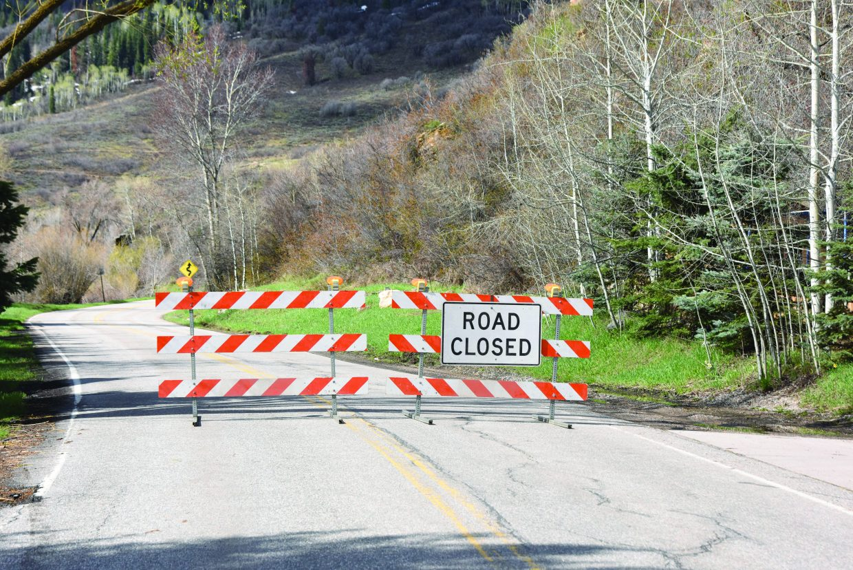 River Road closed Tuesday to through traffic in the canyon section between the Brooklyn neighborhood and Tree Haus due to a minor rockfall.