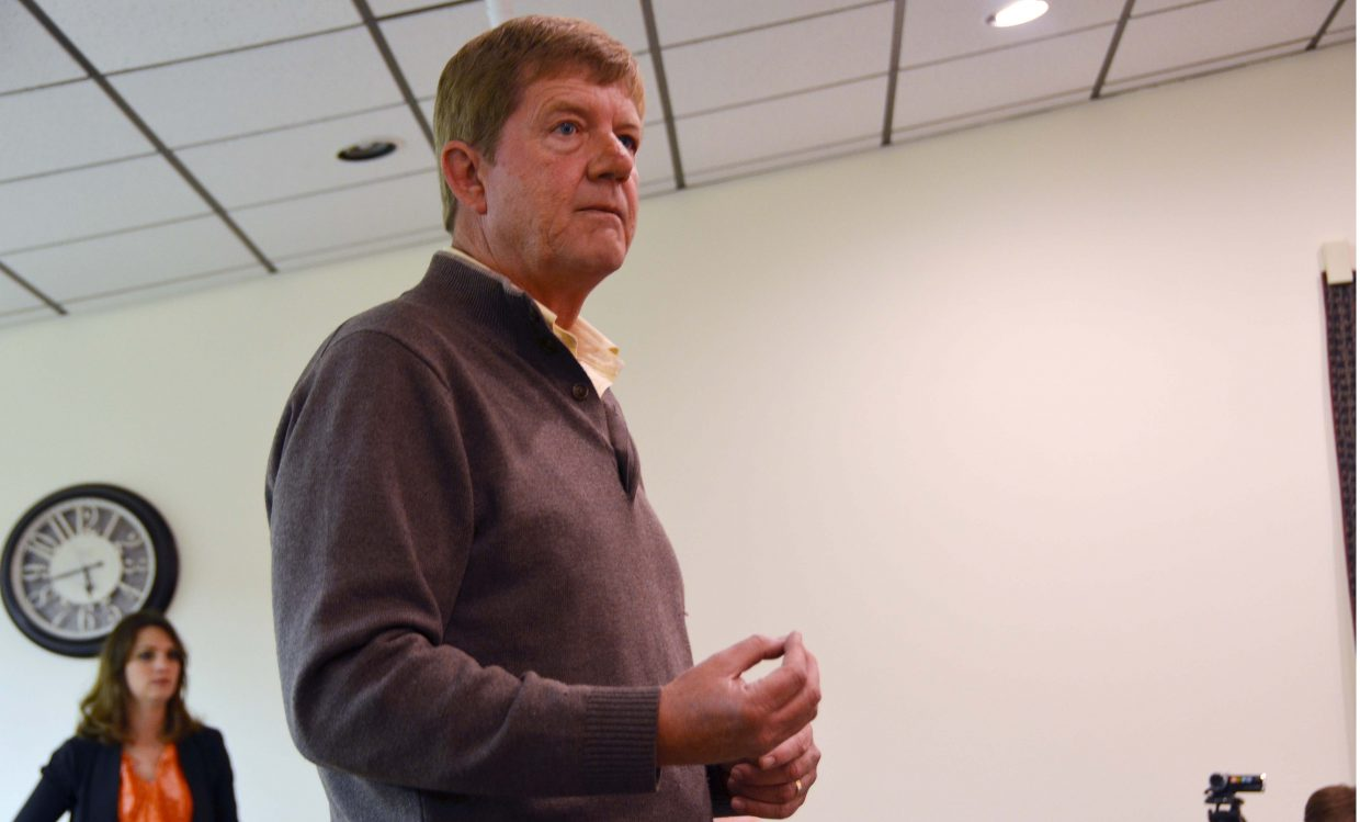 U.S. Rep. Scott Tipton, R-Colo., speaks about his congressional plans Monday night at Craig City Hall.