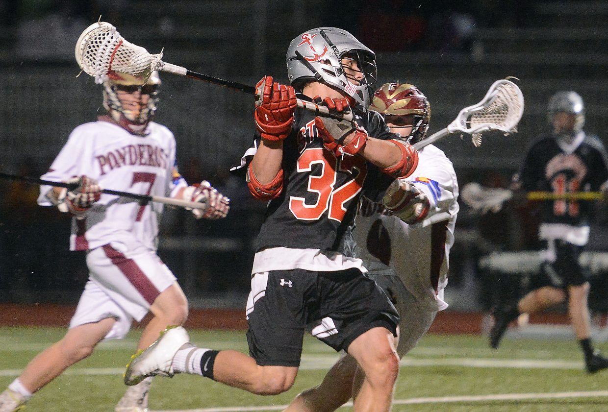 Steamboat's Mitch McCannon lets loose a late-game shot Wednesday in the team's 17-13 loss to Ponderosa.