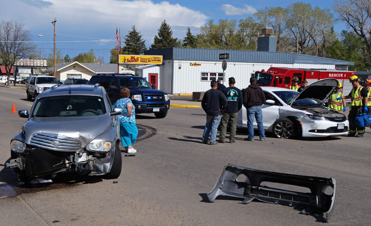 No injuries were sustained in this two vehicle crash on Victory Way Wednesday afternoon.