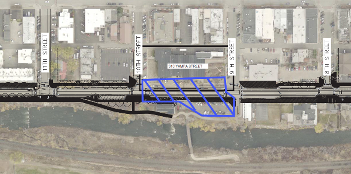 Yampa Street between Ninth and Tenth streets will be closed beginning Monday as preliminary work for the Yampa Street Improvement Project begins.
