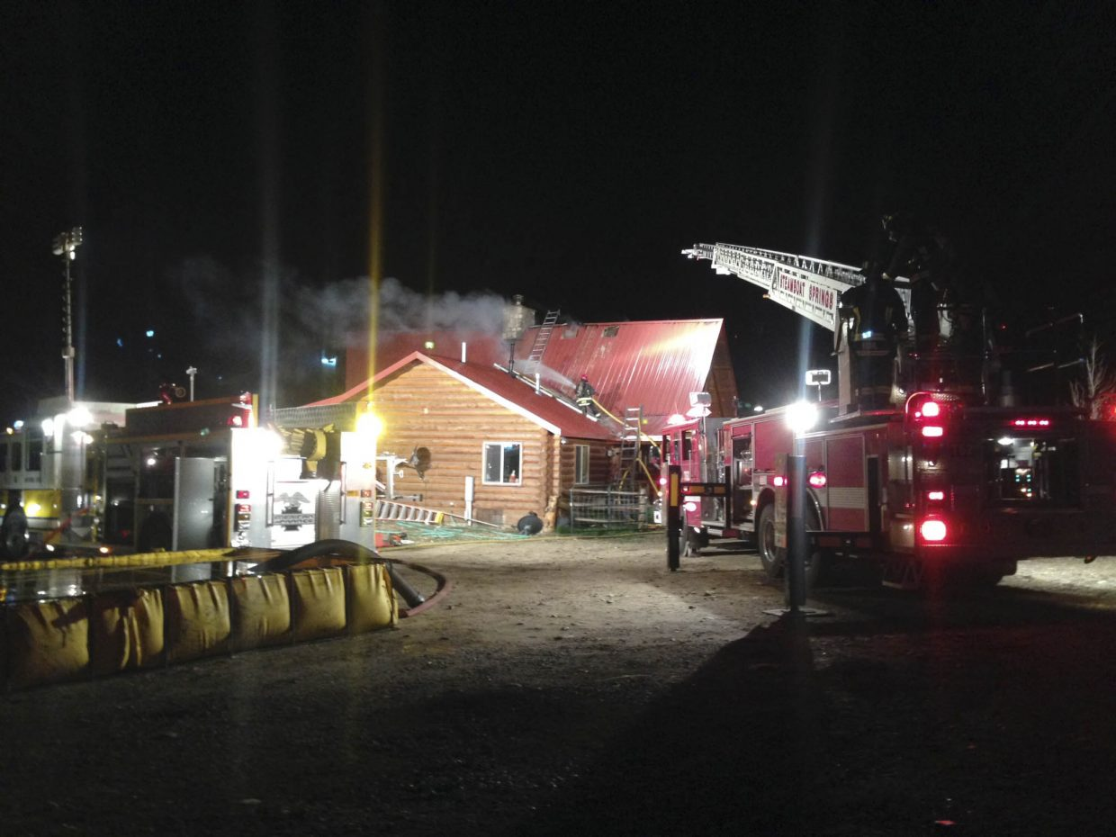 At about 10 p.m. Friday, West Routt Fire Protection District firefighters were called to a report of a structure fire at 11950 Routt County Road 70. Chief Dal Leck said the homeowner tried to put out the chimney fire, but it got away from him. The fire spread into the roof, and Steamboat Springs Fire Rescue was called to help with its ladder truck. Leck said there was substantial damage to the roof area, and there were no injuries.