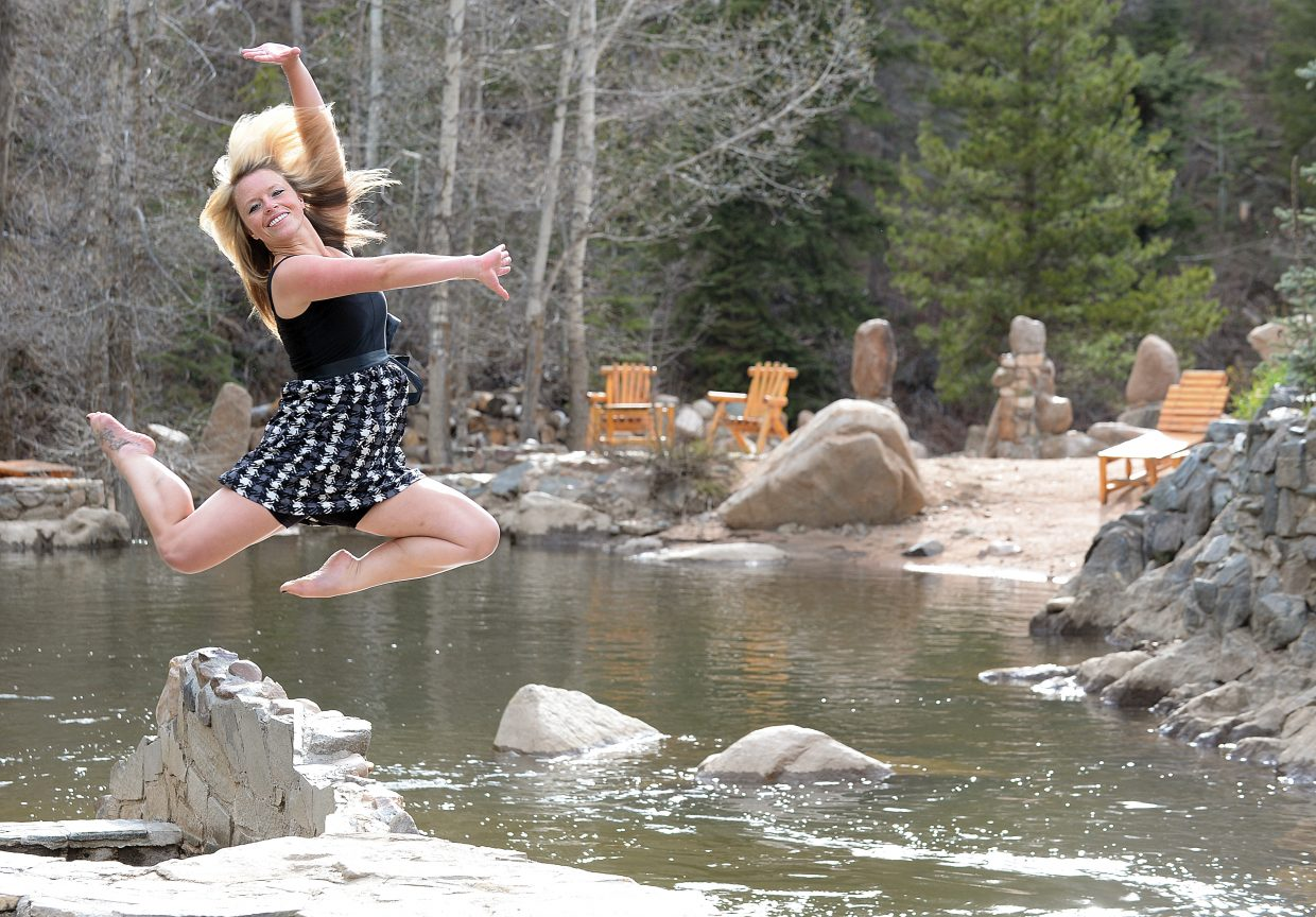 Stephanie Kohlhardt dances at Strawberry Park Hot Springs. In contemporary dance, Kolhardt combines her skills in ballet, jazz and tap dancing. She has been teaching at Elevation Dance Studio for four years.