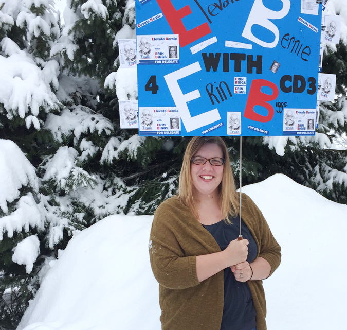 Delegate to the Democratic National Convention Erin Biggs of Steamboat Springs is fundraising for an expensive trip to Philadelphia in late July.