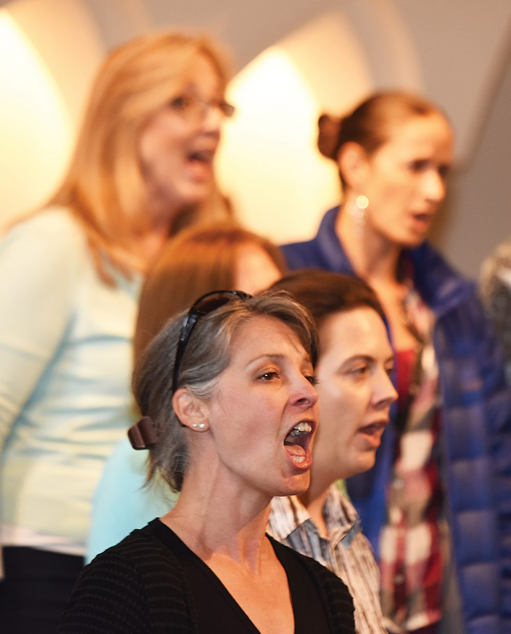 """Steamboat Chamber Singer Ali Mignone rehearses with the group earlier this week. The group's """"Ireland's Call"""" concert, set for Friday and Saturday at St. Paul's Episcopal Church, will feature several guest performers."""