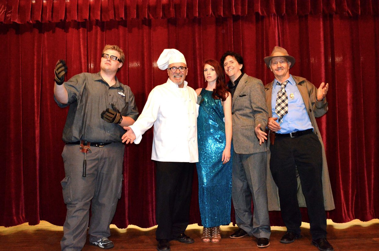 The cast of Talent Denver performs a murder mystery show in 2015. The cast will return this Saturday night for a new performance hosted by Craig Chamber of Commerce.