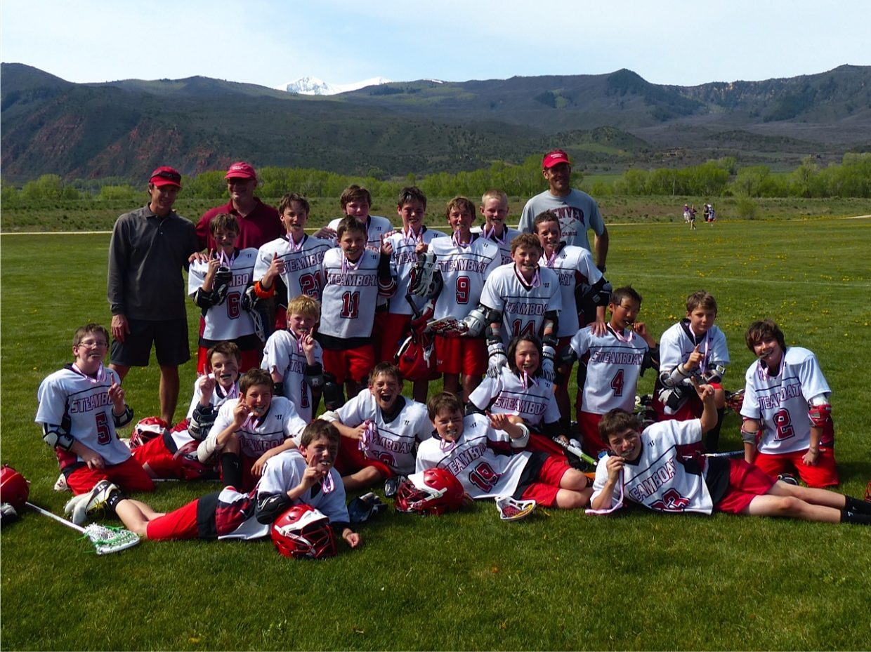 The Boys U12 Steamboat Youth Lacrosse team celebrates its tournament win at the Aspen Shootout this past weekend. Also, Steamboat Youth Lacrosse will host their annual Steamboat Lacrosse Classic on Saturday and Sunday.