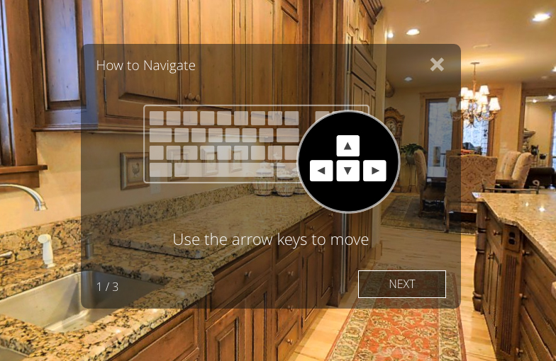 3D listings can be viewed using keyboard controls or a computer mouse or touchpad.