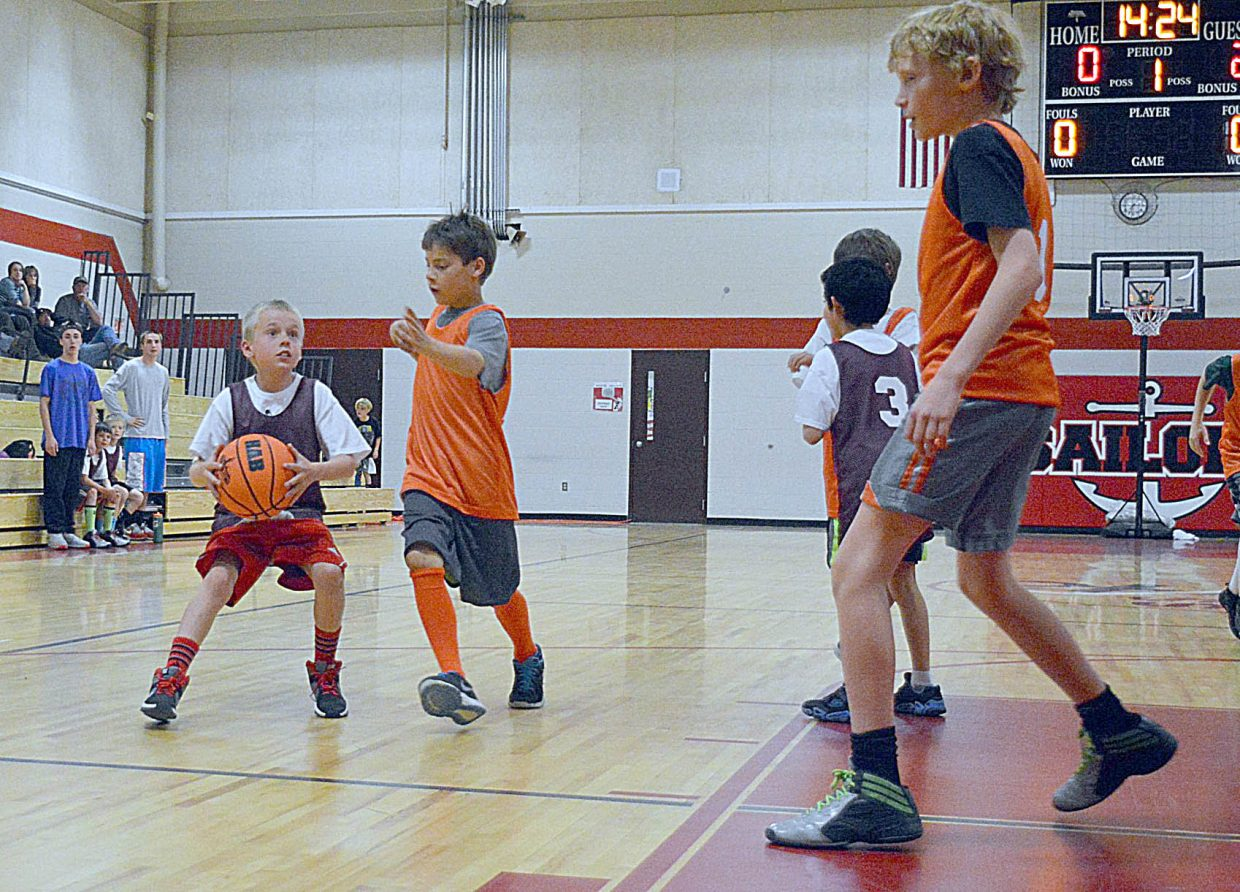 Hunter DeWolfe takes part in the High Altitude Basketball's youth recreational league, which is run by former Steamboat Springs High School standout Michael Vandahl.. Early registration for this year's Fundamental Camp, which is also run by High Altitude Basketball ends June 1.