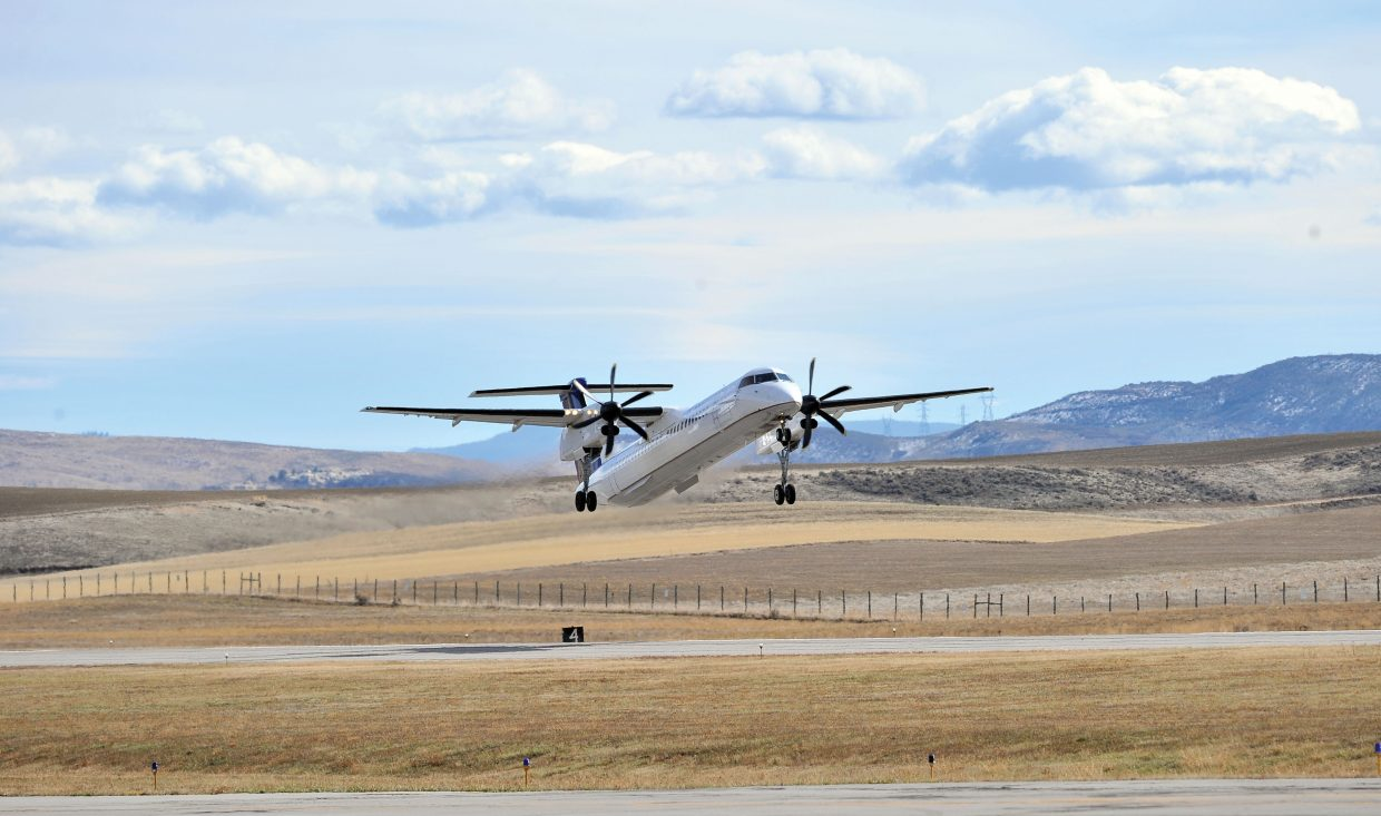 United Express daily roundtrips on the Q400 turboprop between Yampa Valley Regional Airport and Denver will be reduced to two instead of the the three that operated during the heart of the summer in 2014.