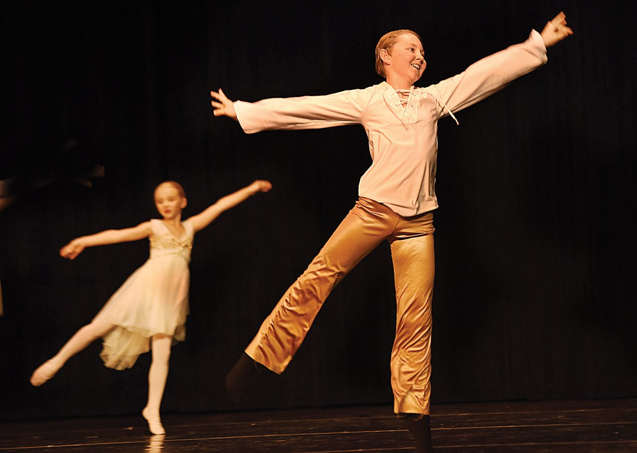Dancer Bruce Hayes performed at the Elevation Dance Studio's Passport to Dance show Friday night at the Steamboat Springs High School Auditorium.