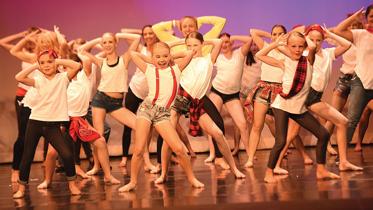 Dancers rehearse their performance for the Elevation Dance Studio's Passport to Dance. The first show took place Friday evening at the Steamboat Springs High School Auditorium with the second scheduled for Saturday. Performances were sold out.