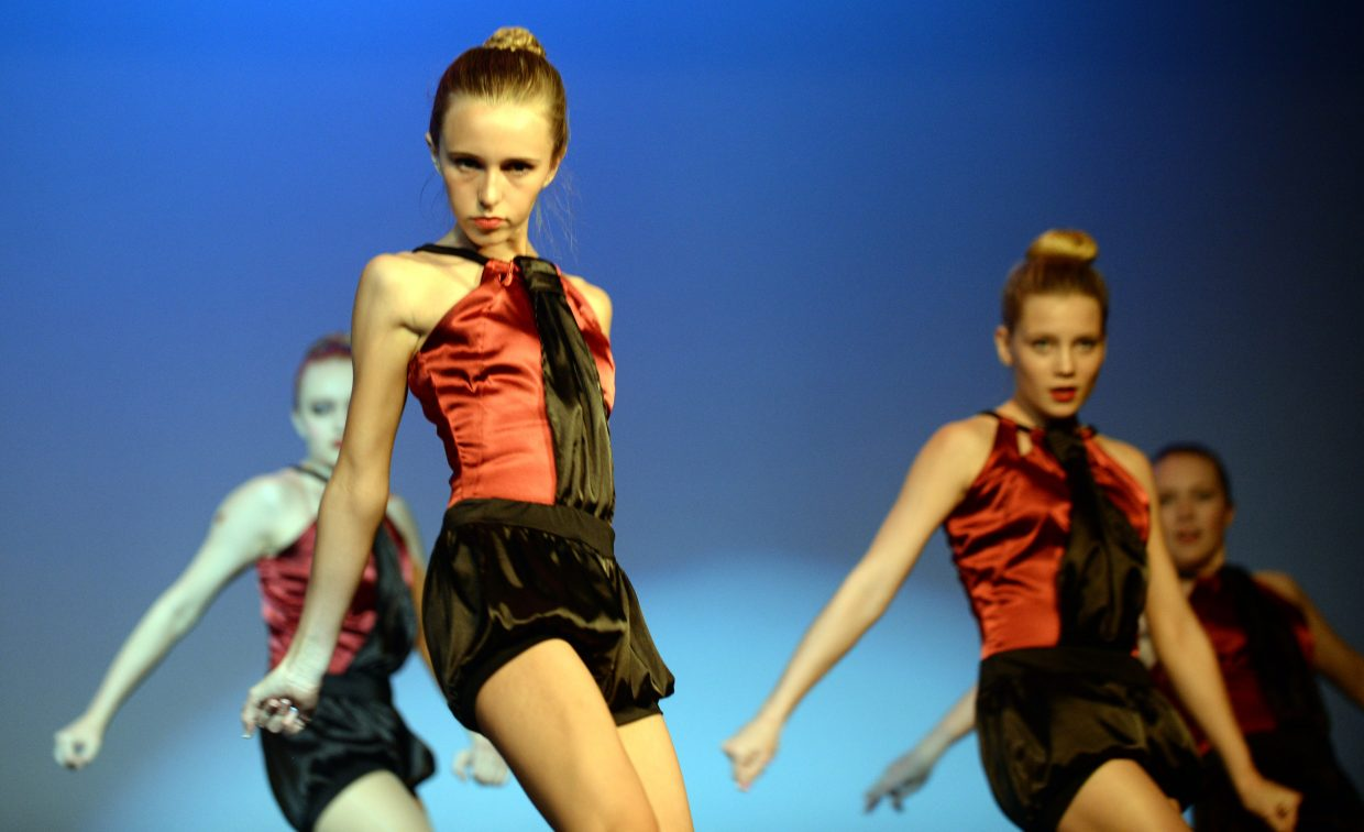 """Dancers Lincoln Hildebrand, middle, Joey Morrow, right, and Mayanna Gibbs perform during the Elevation Dance Studios production of """"The Great Gatsby."""" Elevation will host a 6 p.m. performance tonight as well as performances at noon and 6 p.m. Saturday at the Steamboat Springs High School auditorium."""