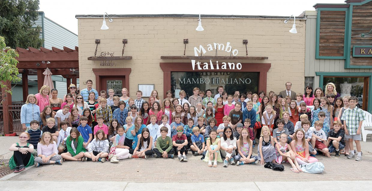 The Soda Creek Elementary School fifth grade class participated in a formal luncheon at Mambo Italiano on Thursday. The luncheon is the culmination of Molly Manners etiquette lessons taught by Molly Hayes. The meal also is a celebration for the children who are making the transition to middle school.