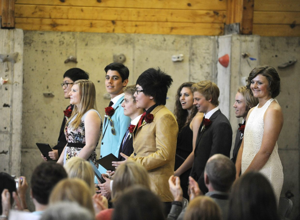 Steamboat Mountain School graduated nine seniors Saturday.