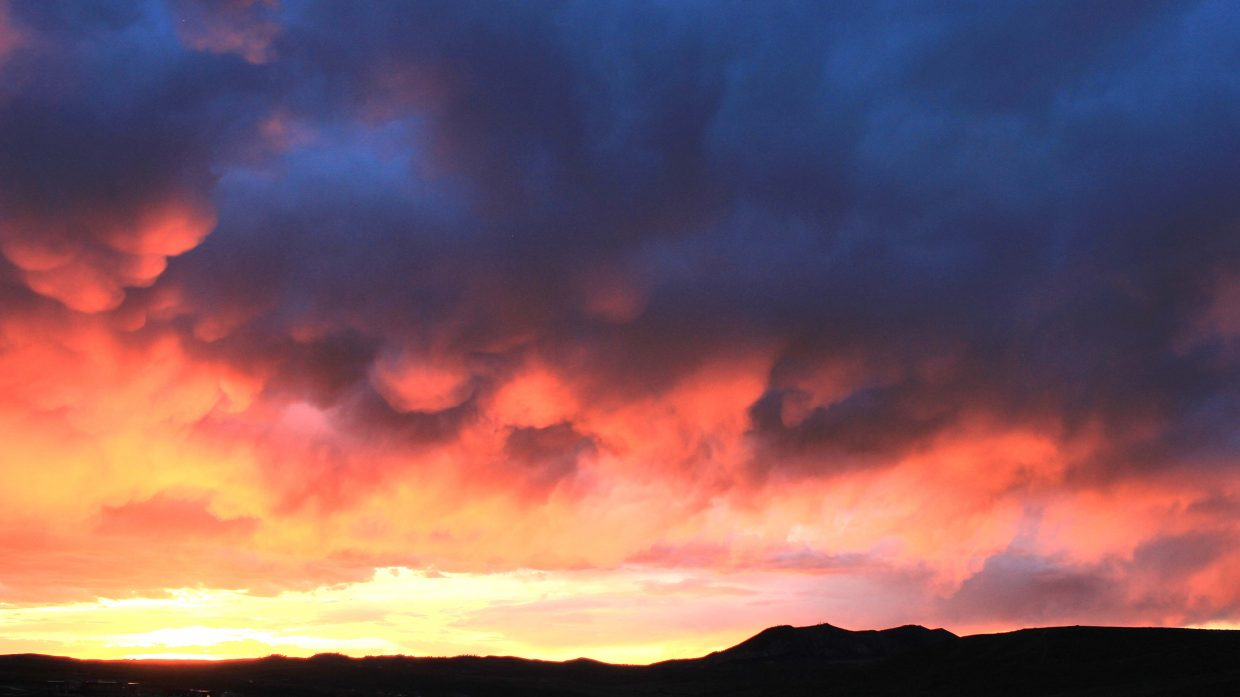 "Craig resident Jeremy Chambers took this photo and calls it ""Fire in the sky."""