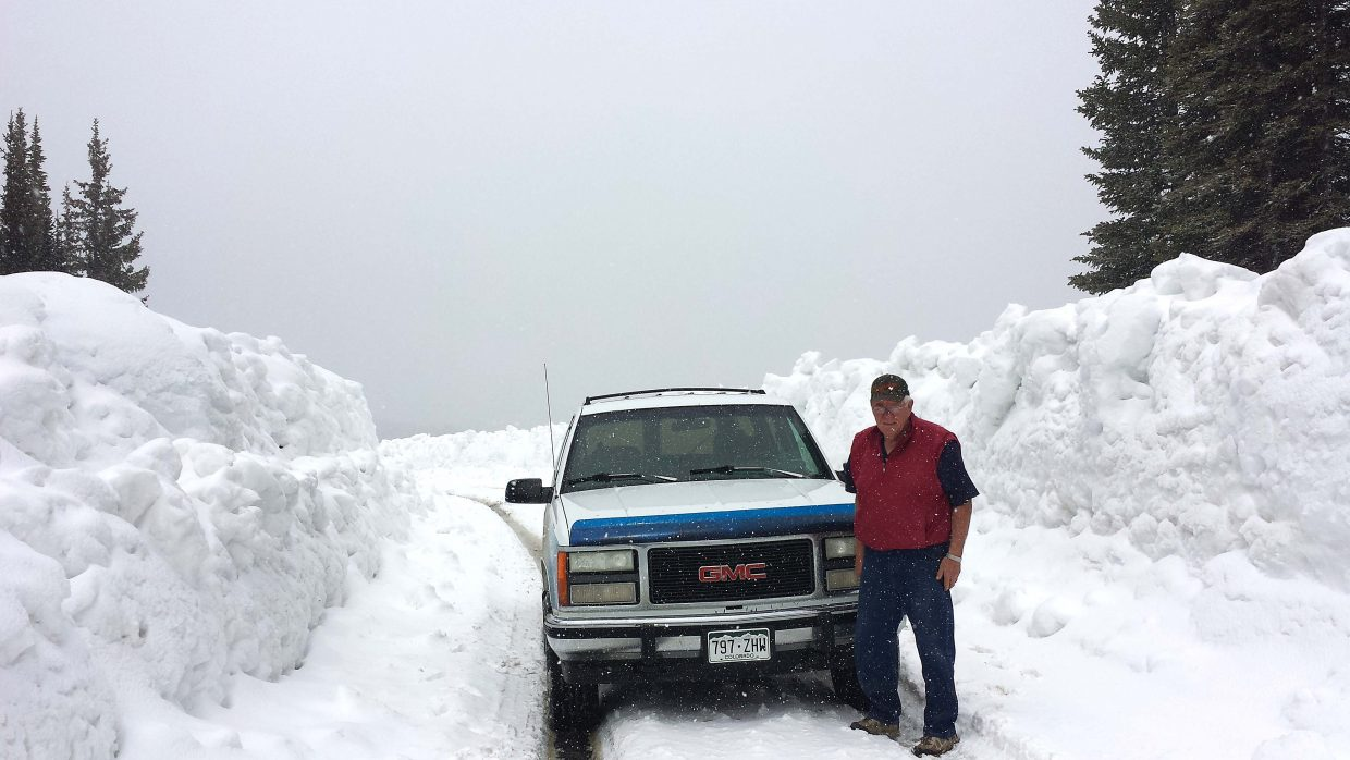 Helen Knez, of Craig, took this photo of her husband Tom Knez on May 24 near Vaughn Lake.